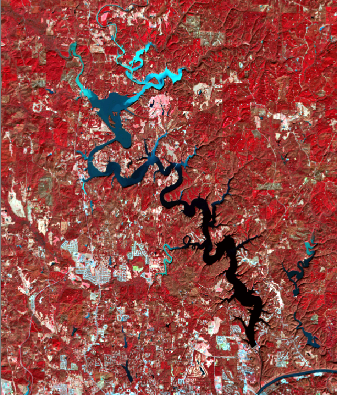 satellite image of city