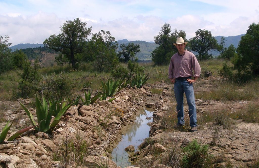 Dr. Matthew LaFevor in the field in Tlaxcala, Mexico.