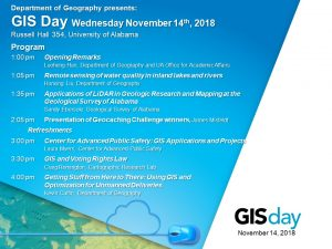 poster for GIS Day 2018