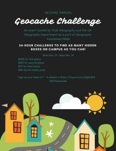 poster for second annual geocache challenge