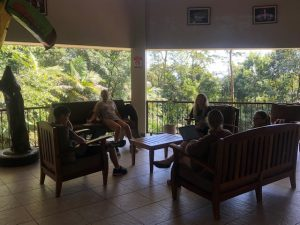 students gathered in Costa Rica